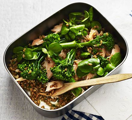 For a super healthy lunch, throw together ready cooked spelt, smoked trout and steamed broccoli or a nutritious meal that's ready in minutes