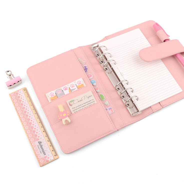 "Our A6 Personal Planner is adorable & a nice compact size to pop into your bag. Fits 9.5cm x 17.1cm / 3.7"" x 6.7"" personal planner pages. ⋆⋆♡•♡•♡⋆⋆"