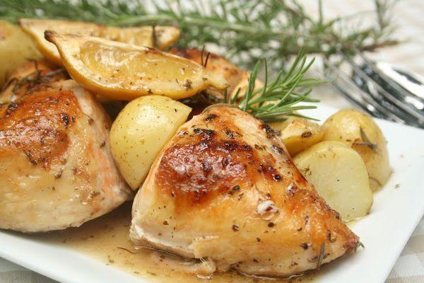 Lemon and Rosemary Roast Chicken   Chicken   Pinterest   Roasts, Lemon ...