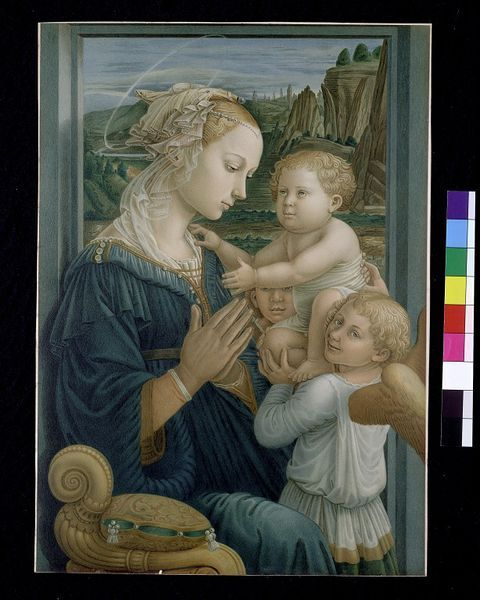 Virgin and Child with an Angel chromolithograph by Ansiglione and Fra Filippo Lippi, 1877. l Victoria and Albert Museum #Christmas #AngelTrail