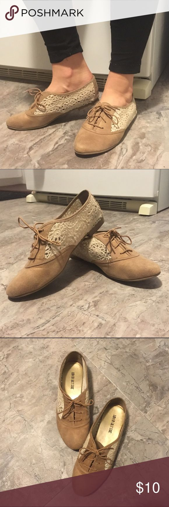 Classic Lace Oxfords These suede Oxford shoes with lace sides will add an element of elegance to every outfit you wear! Only worn once or twice. They're unfortunately too small for me but I know that you'll love them just as much as I do! Shoes