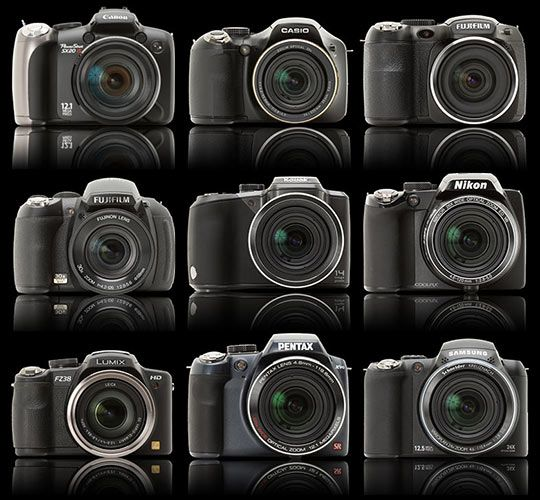 Compact Camera Group Test: SLR-like 'super zoom' cameras: Digital Photography Review