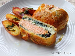salmon en croute Steve's Cooking