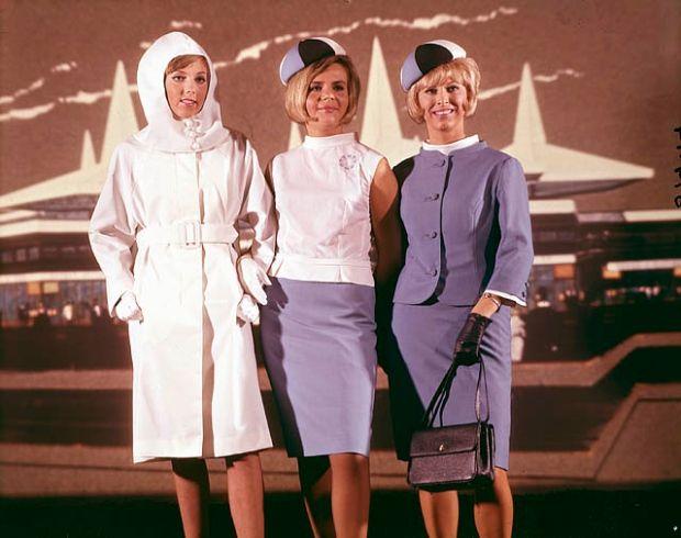 Expo 67 hostess uniforms - including that futuristic raincoat