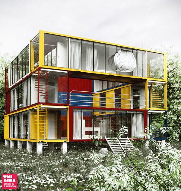 Les 2092 meilleures images du tableau container homes sur for Maison container 59