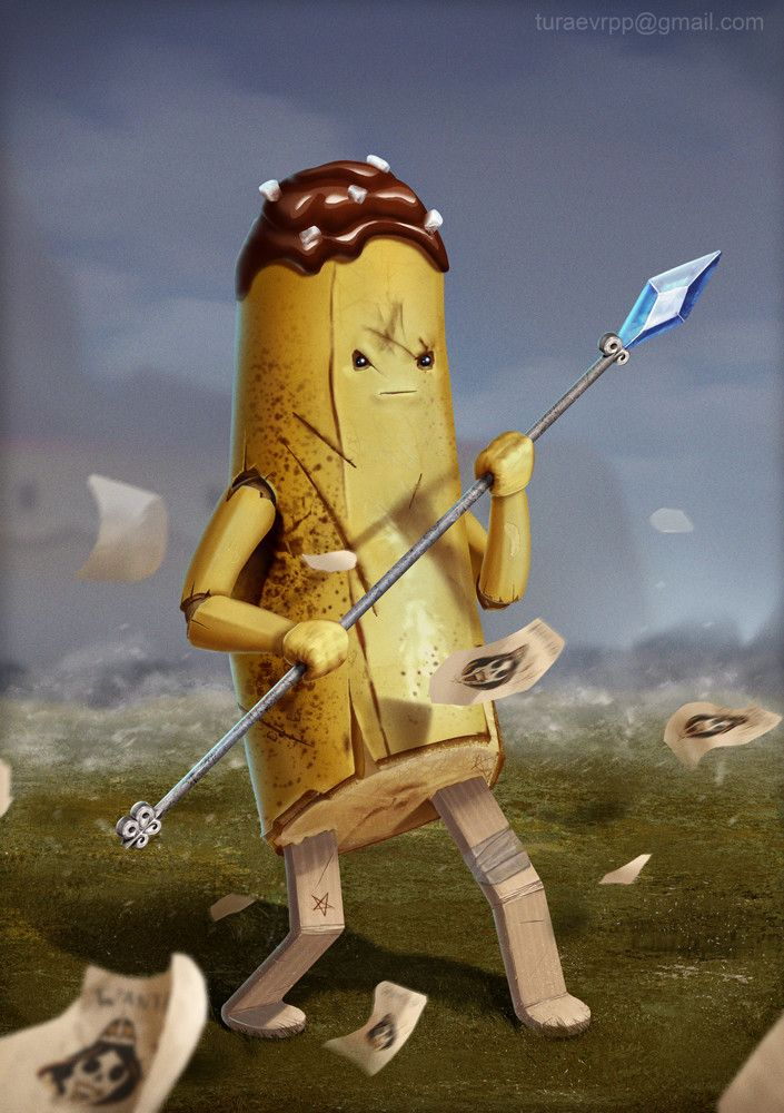 Banana Guard, Alexey Turaev on ArtStation at https://www.artstation.com/artwork/oy61W