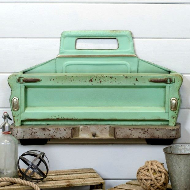 Vintage Style Metal Truck Bed Wall Decor In 2019 Small