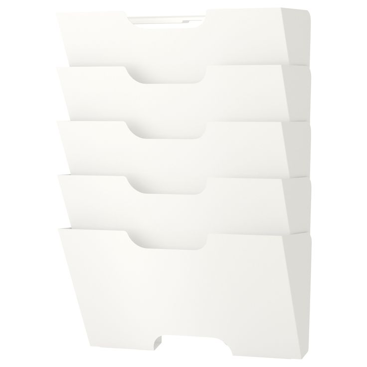 KVISSLE Wall magazine rack, white $14.99 This magazine rack is intended to be used alone. Do not combine several KVISSLE magazine racks together. The weight will be too heavy for the construction to support.  Different wall materials require different types of fasteners. Use fasteners suitable for the walls in your home (not included).