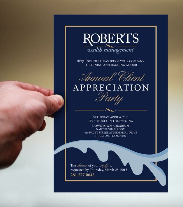 client appreciation party invitations  Google Search