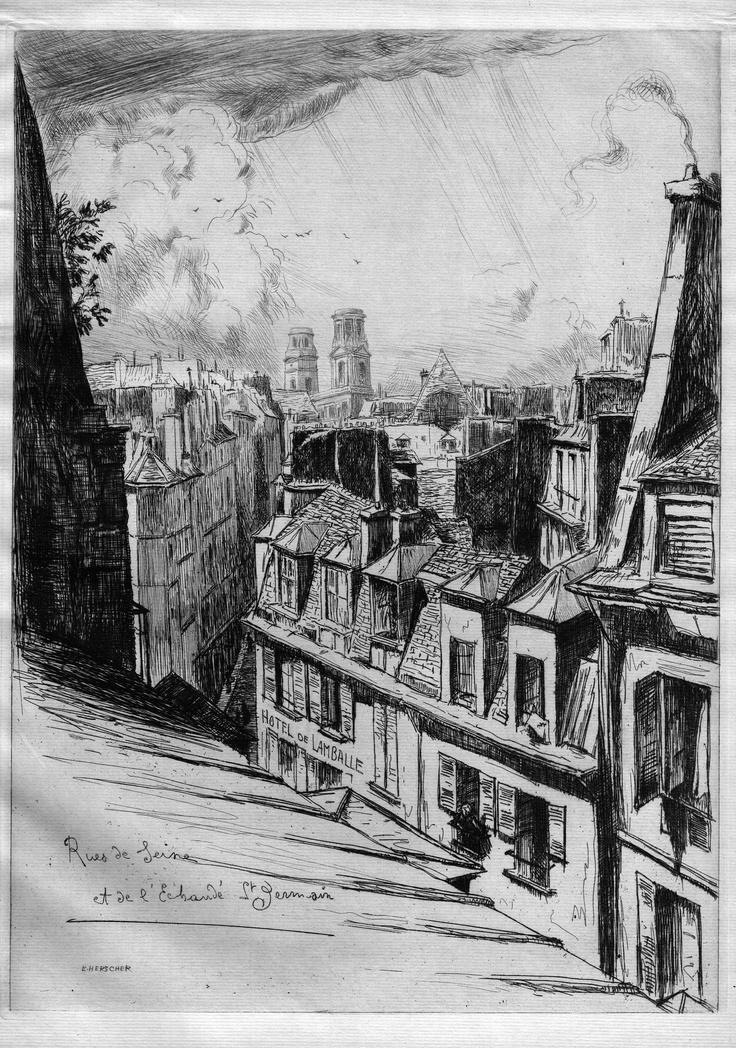 Les rues de Seine et de l'Echaudé - Paris - Du n°45 au-dessus du passage du Pont-Neuf (1909)