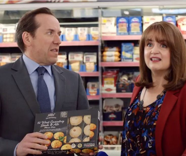 Tesco admits it is 'reviewing' the Ben Miller and Ruth Jones advertising couple