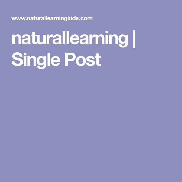 naturallearning | Single Post