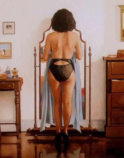 The Blue Gown by Jack Vettriano http://jackvettriano.com