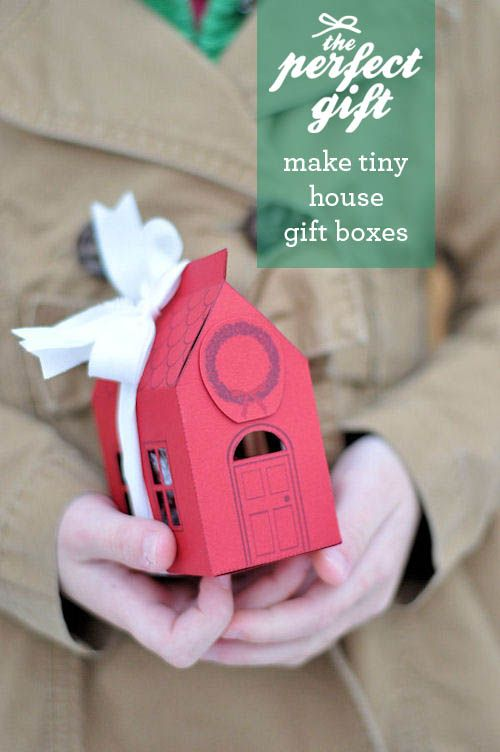 House Gift Box Free PrintableHouse Gift, Gift Boxes, Tiny House, Gift Ideas, Diy Gift, Handmade Gift, Neighbor Gift, Paper House, Boxes Templates