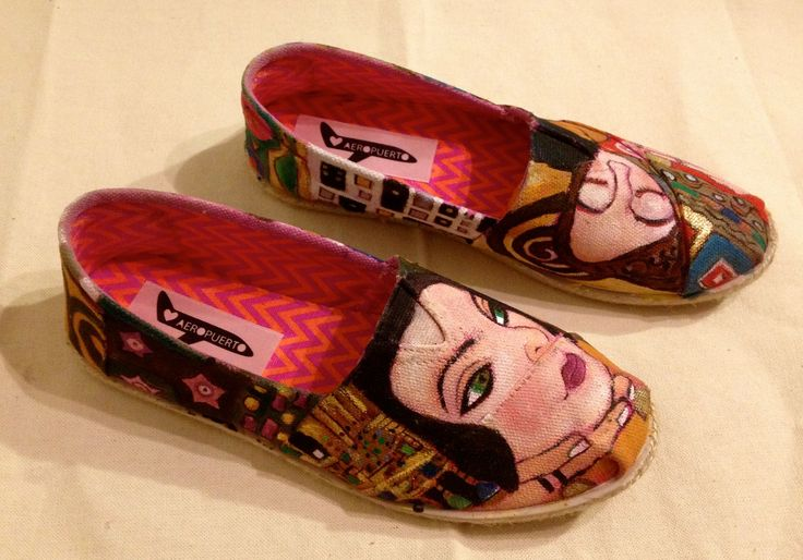 Alpargatas personalizadas  Inspiradas en la obra de Gustav Klimt