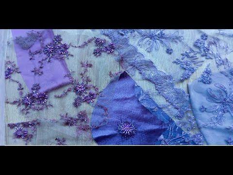 Вышивка бисером на одежде - YouTube