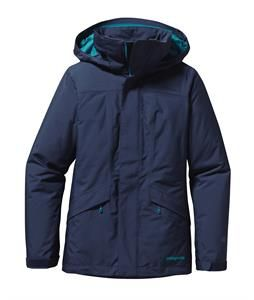 Step up your game in the Patagonia Insulated Snowbelle Ski Jacket for women. Helping you raise the bar in outdoor excellence, this durable and versatile jacket offers the style you love and the quality you demand. Go all out on the slopes with the protection from the Micro twill weave fabric that offers a DWR finish to keep you dry through any storm and repel moisture through any deep powder run. The Thermagreen 100g insulation in the body locks out cold weather to provide a cozy and warm…