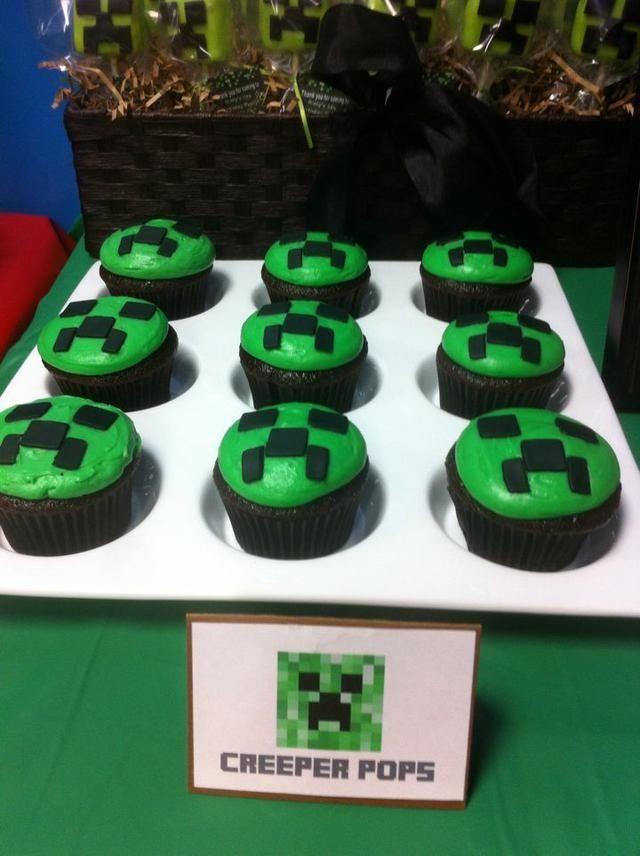 Creeper cupcakes | Minecraft | Pinterest | Creepers and ...