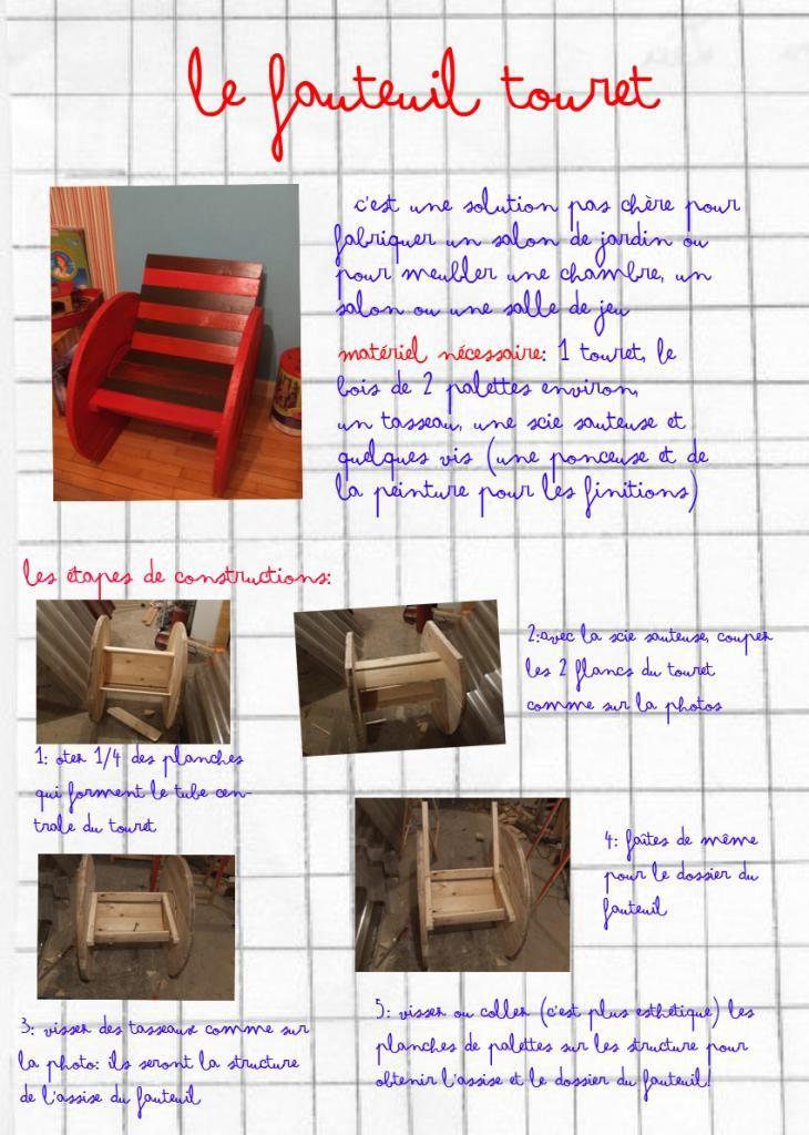 touret fauteuil mode d 39 emploie touret diy bricolage et home decor. Black Bedroom Furniture Sets. Home Design Ideas