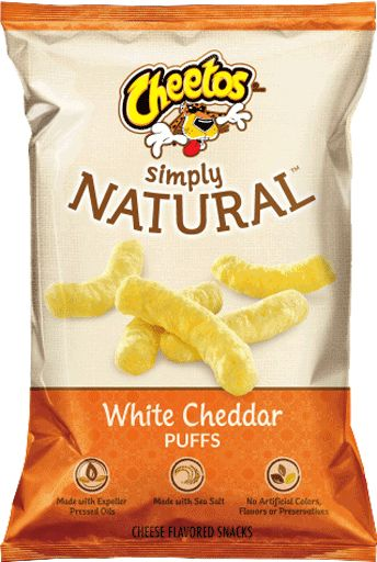 CHEETOS® Puffs SIMPLY NATURAL™ White Cheddar Cheese Flavored Snacks - OMG Cheetos! I am SO very happy that there's an MSG Free version! And they are yummy!