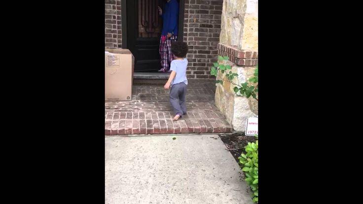 "Little Boy says ""Goodbye"" to Grandmother | Little boys ..."
