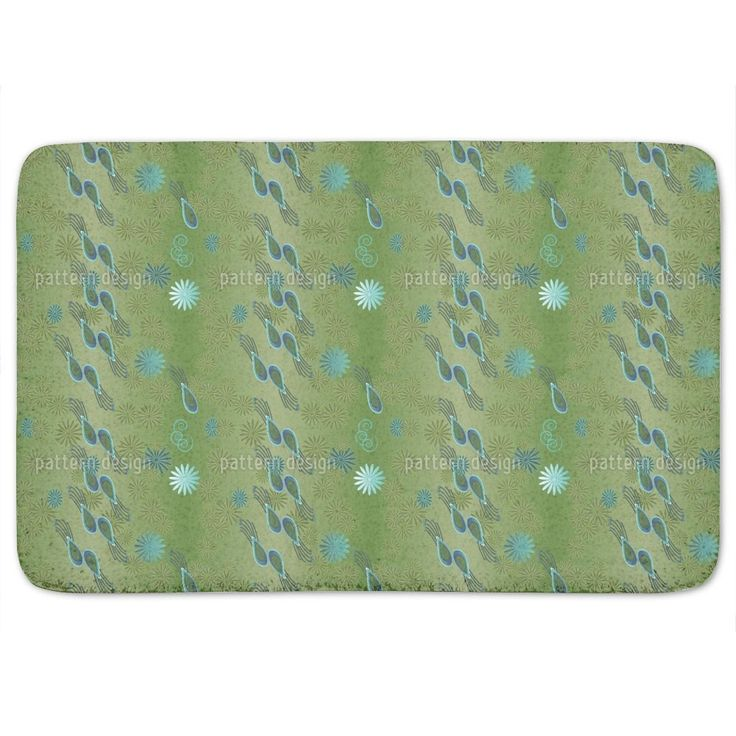 Uneekee Bellies Paradise Green Bath Mat