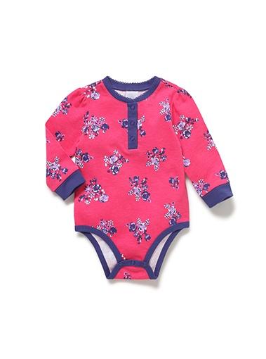 Mix Apparel Floral Picot Bodysuit