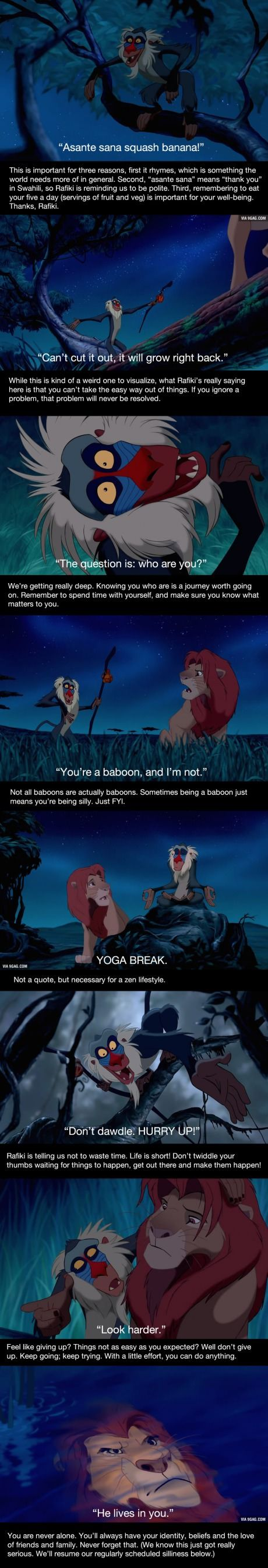 10 Wise Rafiki Quotes You Need to Read