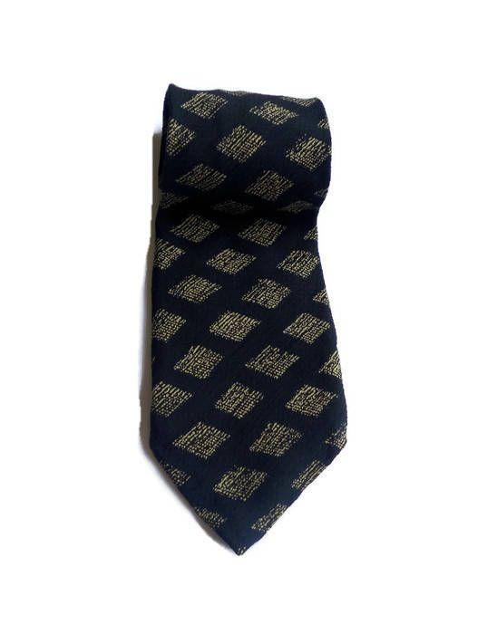 Vintage silk necktie Giorgio Armani brand  black Cravat Tie