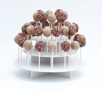 Attractive Round White 3-tier Stand Holds up to 40 Cake Pops or Lollipops. It's Ideal for Parties and Festive Get-togethers: Amazon.com: Kitchen & Dining