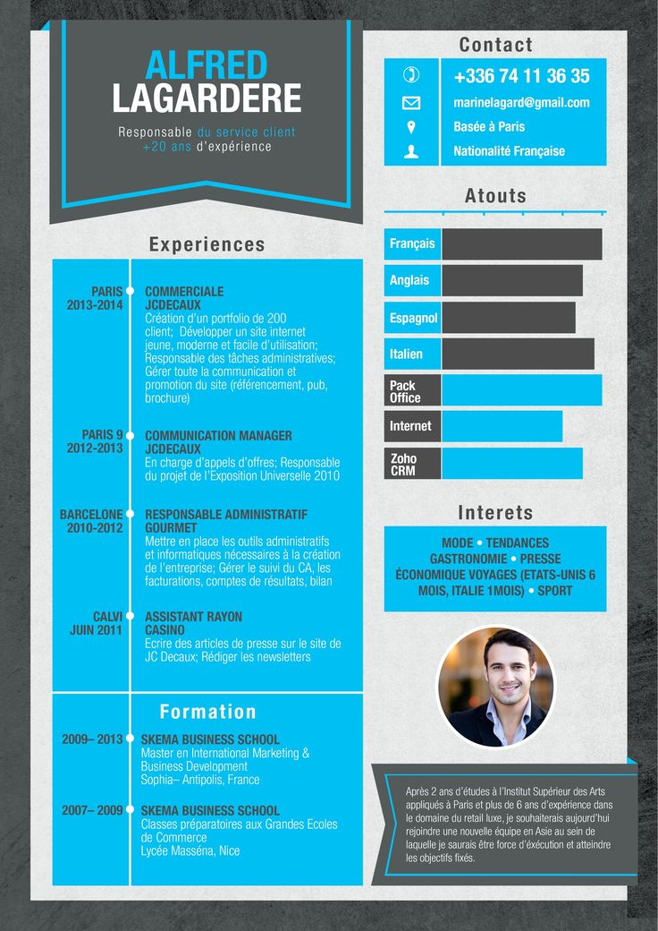 17 best cv images on Pinterest Graphics, 1950s advertising and - resume presentation