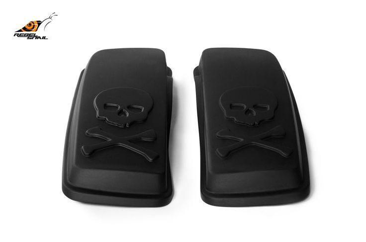 RS hard saddlebag lids skull design for touring 2014 Image
