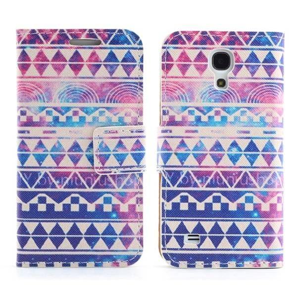 Kleurrijke aztec bookcase voor Samsung Galaxy S4 mini
