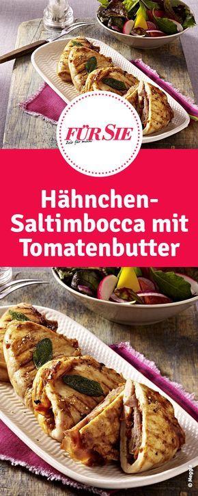 Rezept für Hähnchen-Saltimbocca mit Tomatenbutter