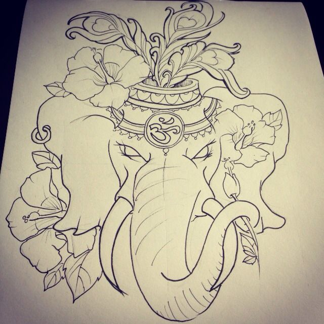 Elephant Line Drawing Tattoo : Best ideas about elephant head tattoo on pinterest