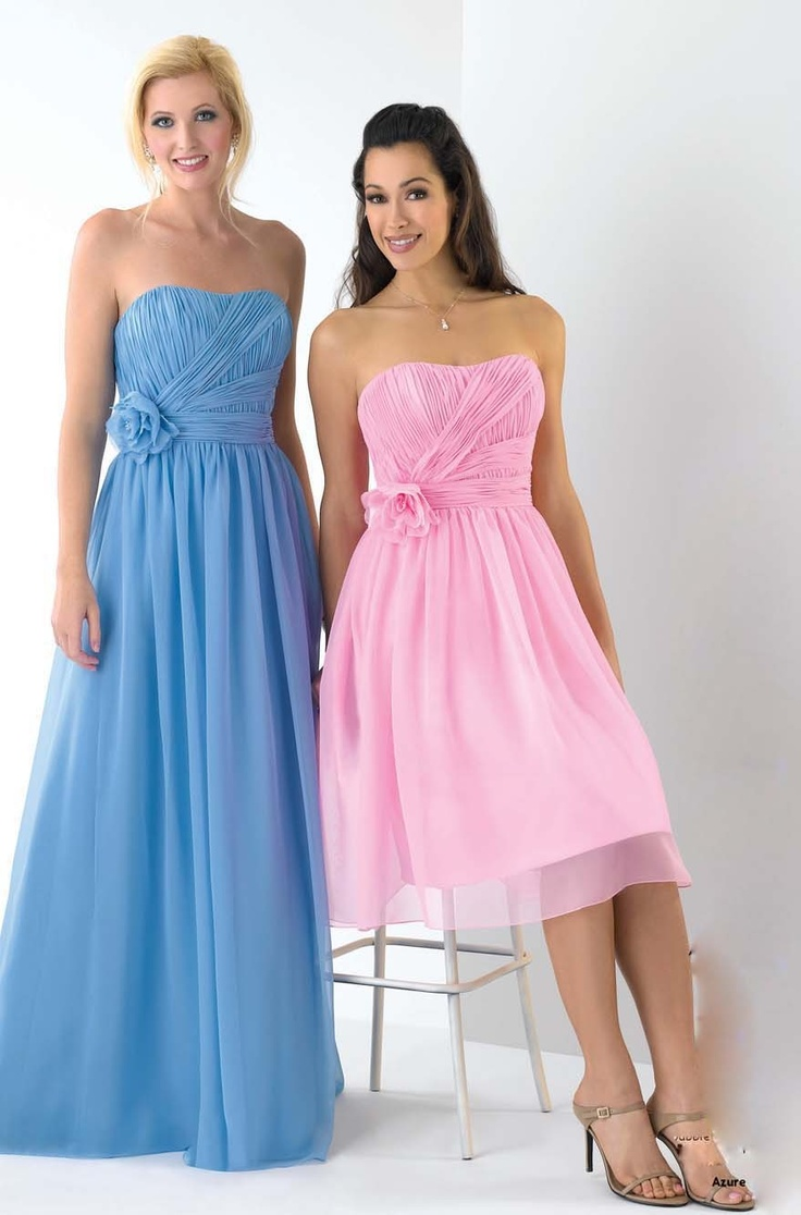 24 best blue bridesmaid dresses images on pinterest colors funky pearl pink chiffon strapless applique cocktail prom dress of knee length a line ombrellifo Images