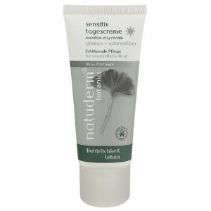 Natuderm Botanics sensitive facial cream fragrance free by Natuderm Botanics. $14.99. frangrance free. sensitive skin cream. This protective care cream, which contains a combination of ginkgo and microsilver, boosts the skin's natural powers of resistance.   Microsilver gently eliminates undesirable bacteria, soothes reddened skin and provides effective protection against further irritations.  Valuable ginkgo extract stimulates cell renewal and restores the skin flora's natur...