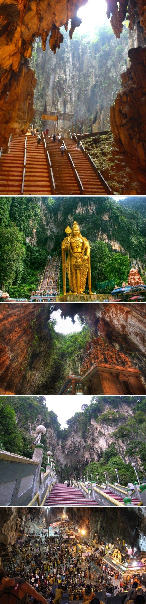 Пещеры Бату находятся недалеко от города Куала-Лумпур - столицы Малайзии. Говорят, давным-давно здесь нашли корову с двумя головами. Представь восторг индусов, для которых корова священна! С тех пор это не просто пещеры, а индуистская святыня, которая посвящена богу Муругану - индуистскому богу войны и победы, покровителю воинов, охотников и воров. Именно его 43-метровая статуя встречает тебя перед входом в пещеру. https://www.facebook.com/nespi.ru/posts/637495463004285