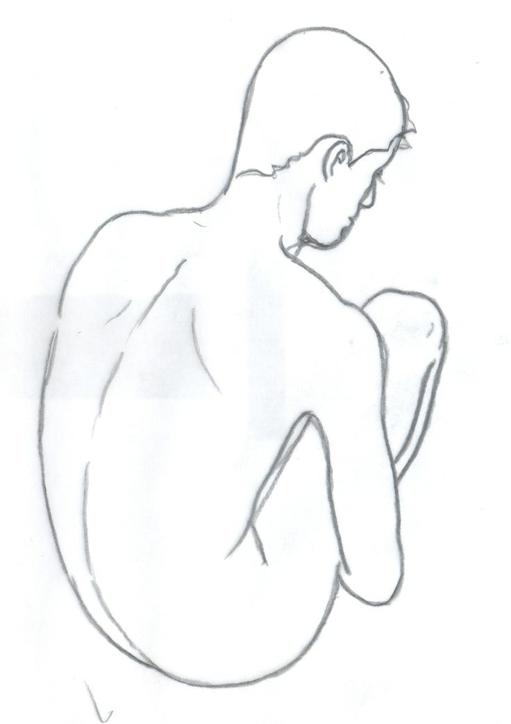 Line drawing by artist Malcolm Lidbury.   A pre-sketch to watercolour paintings.
