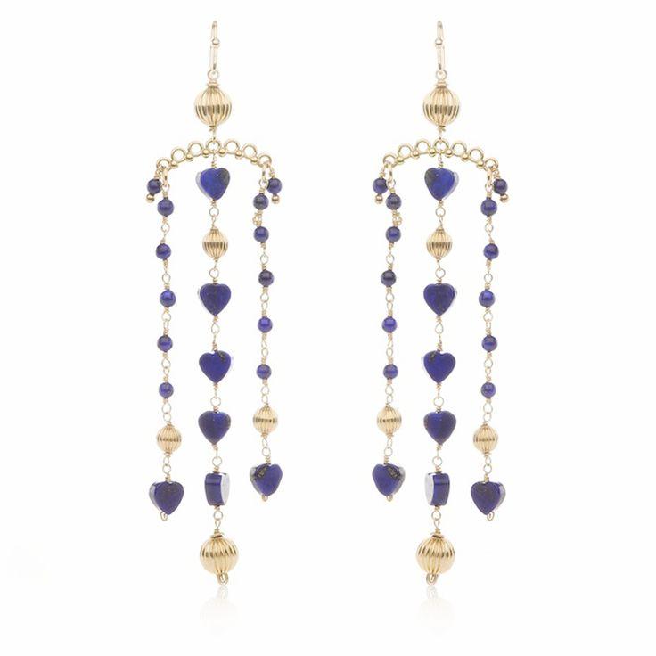 Charlotte Penman / Victoriana Earrings / Lapis Lazuli