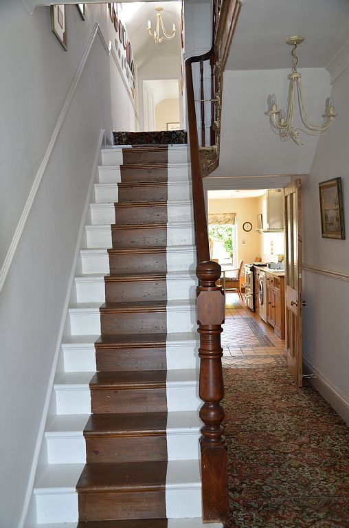Painted wooden staircase late Victorian house | Hall ...