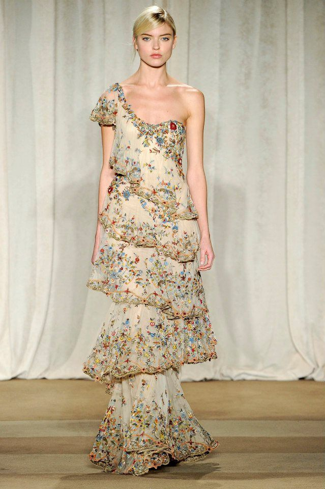 Marchesa Fall 2013. Inspired by an acquaintance's superbly beautiful tiered dress to find one too!
