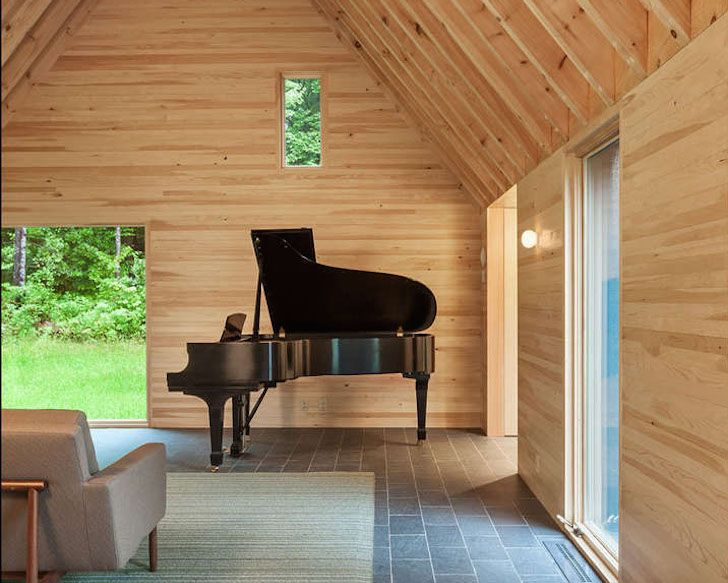 HGA Architects enhanced the modest beauty of a 15-acre property in rural Vermont with the five cedar-clad Marlboro Cottages.