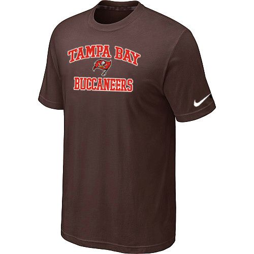 Nike Tampa Bay Buccaneers Heart & Soul NFL T-Shirt - Brown Sale