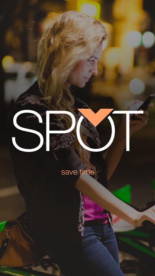 Splash page for SPOT mobile app
