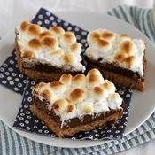Warm Toasted Marshmallow S'mores Bars recipe from Betty Crocker