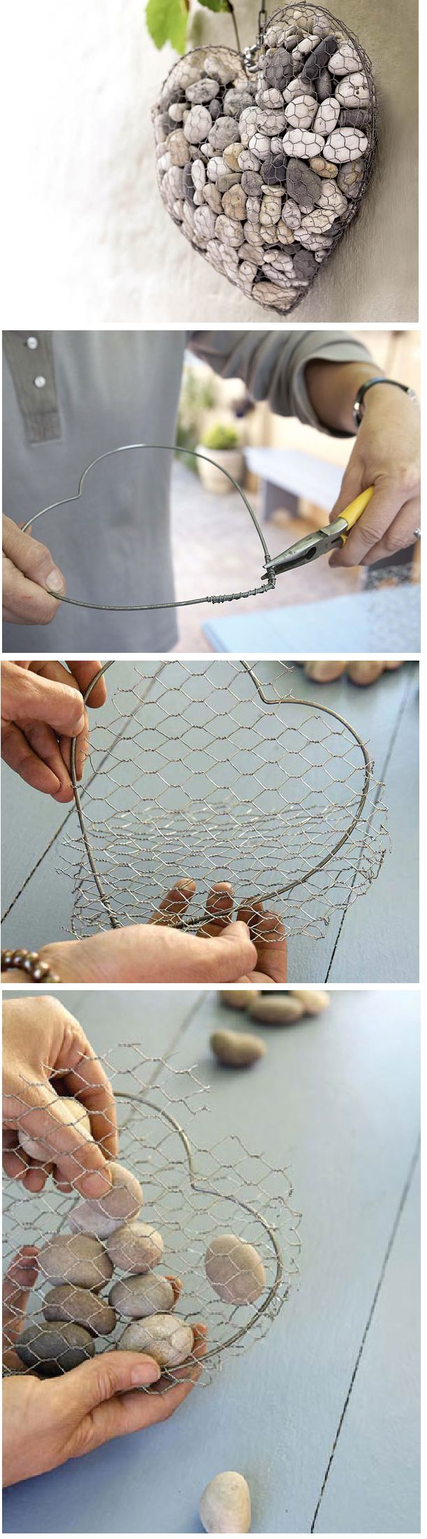 Instead of stones, fill it with twine, small twigs, etc.... for birds to build nests