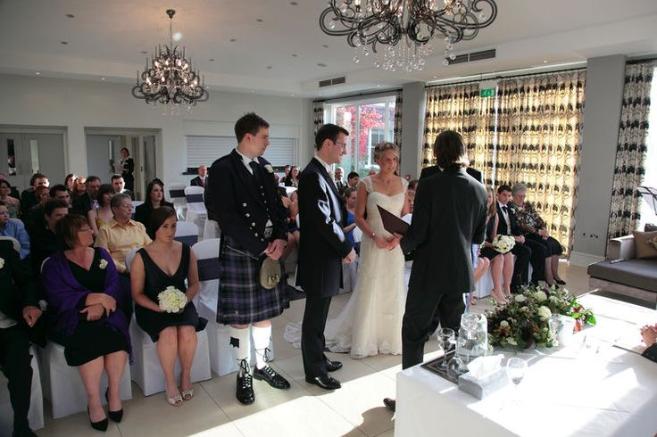 Civil wedding ceremony photo at Spa Hotel in Royal Tunbridge Wells.