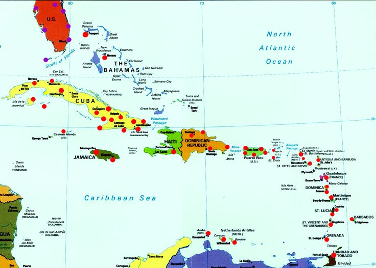 Map of Caribbean Islands | island excursions caribbean food drinks recipes caribbean weather map ...
