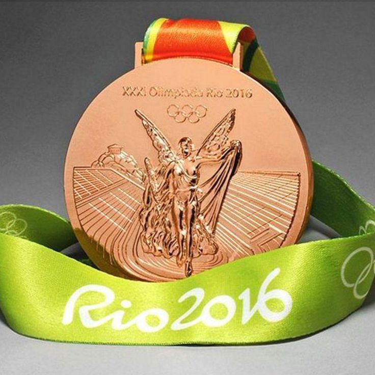 Brazil Rio 2016 Olympic Winners Bronze Medal With Ribbon Souvenir